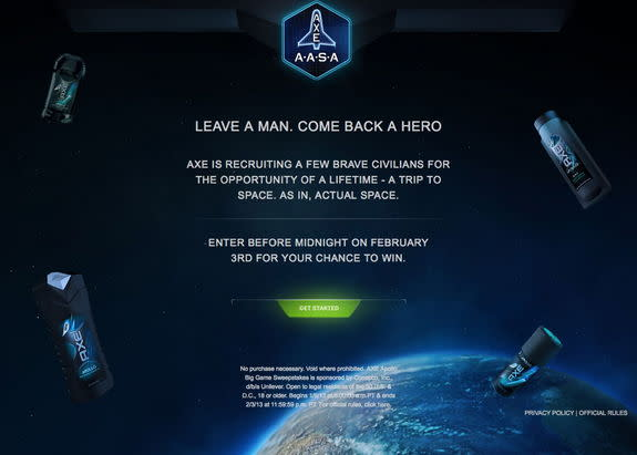 AXE Company Wants to Launch 22 People Into Space