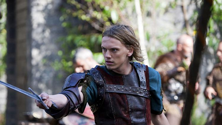 "Jamie Campbell Bower as King Arthur in ""Camelot."""