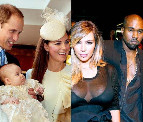 Prince George Arrives at Baptism, Kanye West Video of Kim Kardashian Proposal: Top 5 Thursday Stories