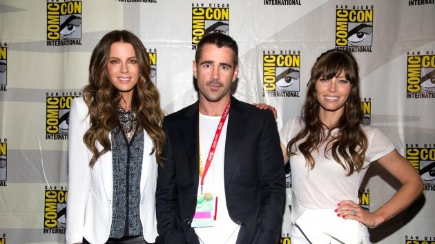 Kate Beckinsale, Colin Farrell and Jessica Biel a seen at Comic-Con 2012 in San Diego on July 13, 2012 -- Getty Premium