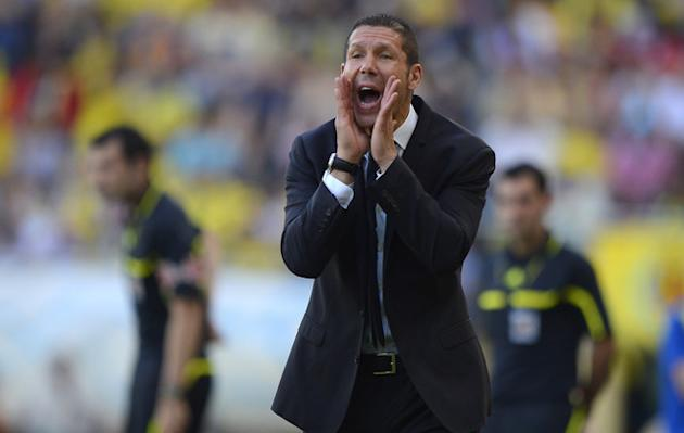 Atletico Madrid's Argentinian Coach Diego Simeone Reacts AFP/Getty Images