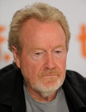 """FILE - In this Sept. 12, 2009 file photo, executive producer Ridley Scott participates in a press conference for the film """"Cracks"""" during the Toronto International Film Festival in Toronto. Scott's production company, Scott Free Productions, will play an integral role in judging the submissions to YouTube's new film festival, known as Your Film Festival. (AP Photo/Evan Agostini, File)"""