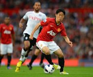 Manchester United's Shinji Kagawa during their Premier League match against Fulham on August 25. Japanese newspapers on Sunday hailed playmaker Kagawa after he netted his first goal in the Premier League on his home debut following his big-money move to United