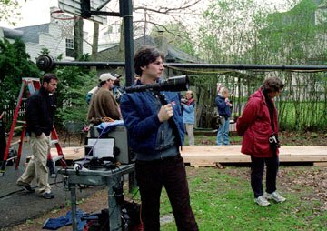 Writer, director and star Zach Braff on the set of Fox Searchlight's Garden State