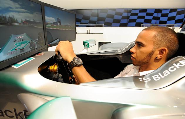 Lewis Hamilton at Selfridges - London