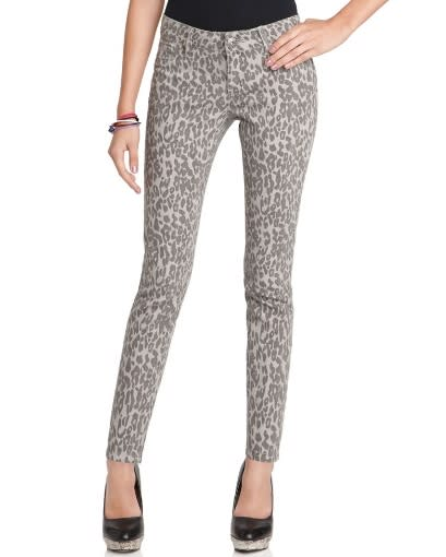 Spoon Jeans, Leopard Printed Skinny Denim, $42