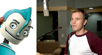 "Ewan McGregor records the voice of ""Rodney Copperbottom"" for 20th Century Fox's Robots"