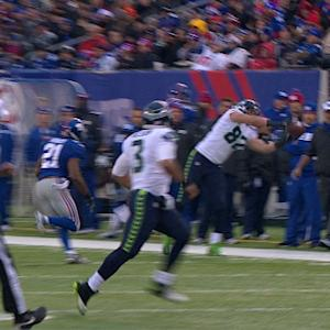 Seattle Seahawks tight end Luke Willson tip-toe catch