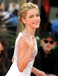 "Actress Kiernan Shipka from ""Mad Men,"" arrives at the 64th Primetime Emmy Awards at the Nokia Theatre on Sunday, Sept. 23, 2012, in Los Angeles. (Photo by Jordan Strauss/Invision/AP)"