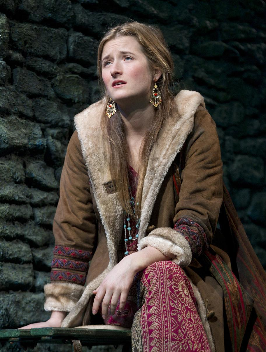 "In this theater image released by Boneau/Bryan-Brown, Grace Gummer is shown in a scene from the play ""The Columnist,"" playing at the Samuel J. Friedman Theatre in New York. (AP Photo/Boneau/Bryan-Brown, Joan Marcus)"