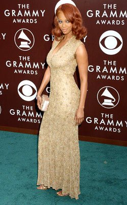 Tyra Banks The 47th Annual GRAMMY Awards - Arrivals Staples Center - Los Angeles, CA - 2/13/05