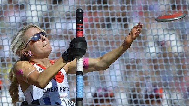 Josie Pearson competes in the Paralympics