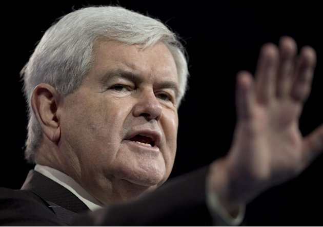 Former House Speaker Newt Gingrich gestures as he speaks at the 40th annual Conservative Political Action Conference in National Harbor, Md., Saturday, March 16, 2013. It may seem early, but the dieha