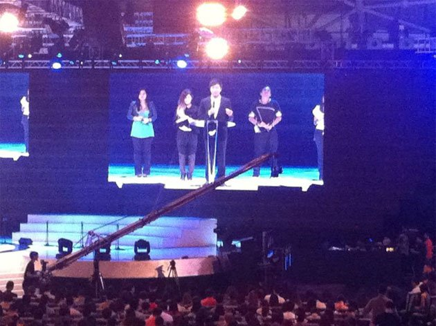 Kong Hee at the service of City Harvest Church on Saturday, June 30, 2012.