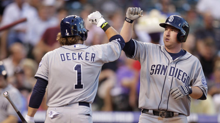 Hundley, Gyrko homer; Padres top Rockies 7-5