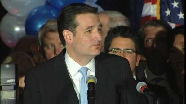 Ted Cruz delivers victory speech in Houston
