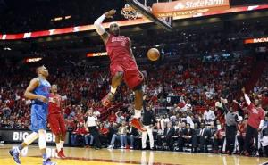 James leads Heat over Thunder in Finals rematch