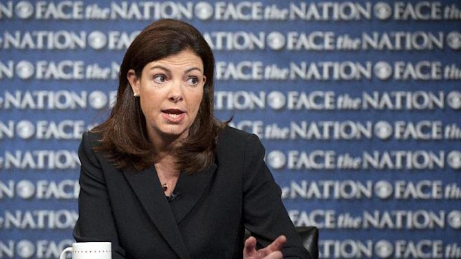 CORRECTING BYLINE TO CBS NEWS TO REFLECT PROPER NEWS ORGANIZATION ATTRIBUTION ALREADY IN CAPTION BODY AND SOURCE - In this June 6, 2013 photo released by CBS News Sunday, June 9, 2013, Sen. Kelly Ayotte, R-N.H., talks on CBS's Face the Nation in Washington. Ayotte said she will back the bipartisan overhaul of the nation's immigration system, which she said is broken and needs to be fixed. (AP Photo/CBS News, Chris Usher)