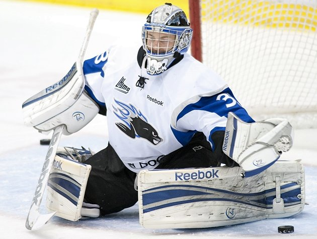 Sea Dogs netminder Sebastien Auger has been one of the lone bright spots for Saint John, who are tied for 16th in the 18-team QMJHL. (CP / Ghyslain Bergeron)