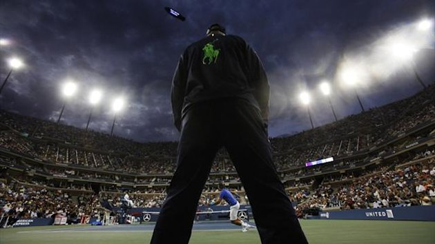 General shot of the back of an unidentified line judge at the US Open in 2011 (Reuters)