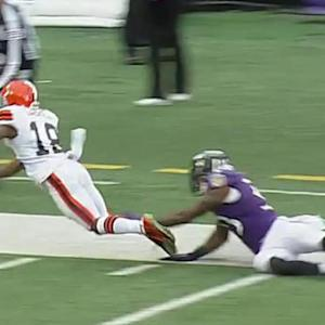 Cleveland Browns quarterback Connor Shaw finds Gabriel for 49 yards