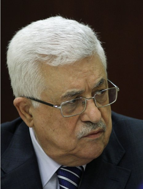 Palestinian President Mahmoud Abbas attends a Palestinian Liberation Organization executive committee meeting in Ramallah