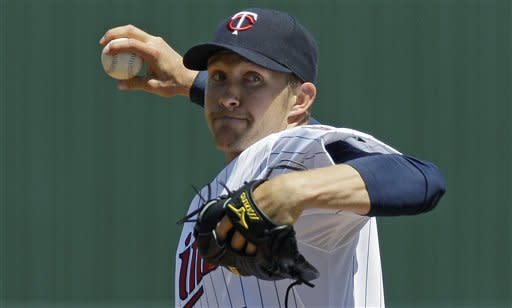 Twins' Baker roughed up in return to mound