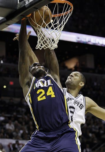 Parker's 28 leads Spurs over Jazz 106-91 in Game 1