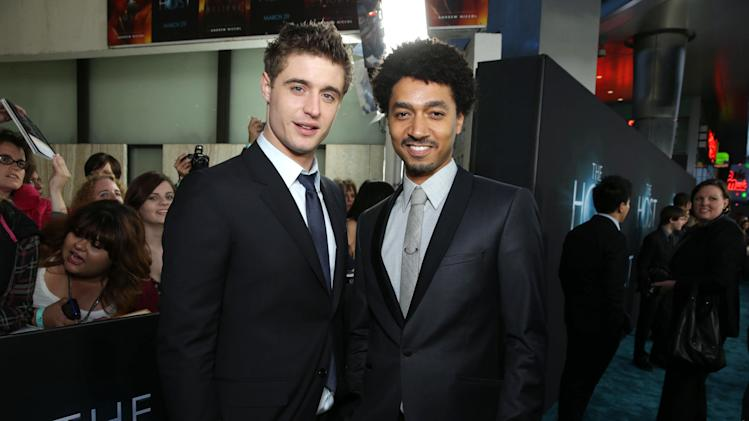 Max Irons and Shawn Carter Peterson and at Open Road Films Los Angeles Premiere of 'The Host' held at the ArcLight Hollywood, on Tuesday, March, 19, 2013 in Los Angeles. (Photo by Eric Charbonneau/Invision for Open Road Films/AP Images)
