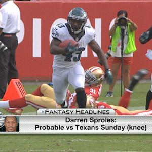 'NFL Fantasy Live' : Week 9 injury report