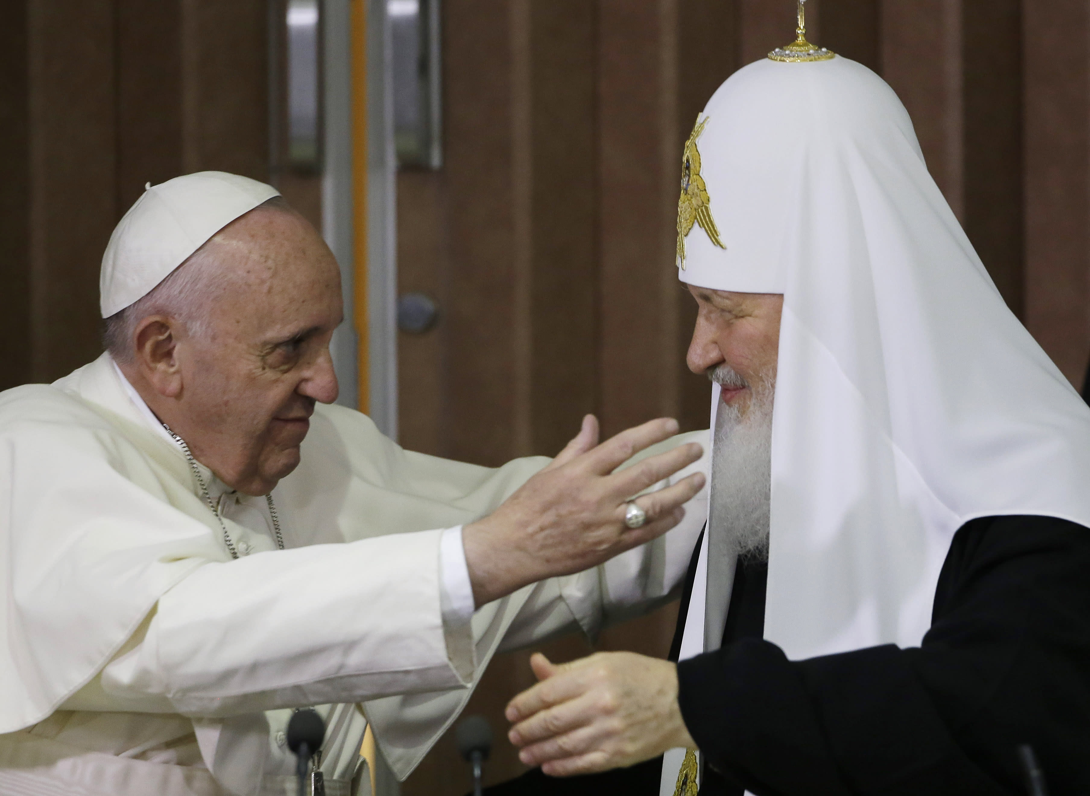 'Finally:' Pope meets Russian Orthodox leader