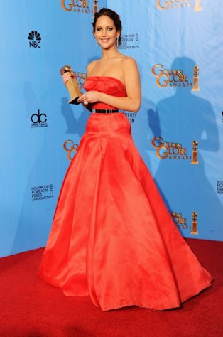 Jennifer Lawrence, winner of Best Performance by an Actress in a Motion Picture (Musical or Comedy) for &#39;The Silver Linings Playbook,&#39;  poses in the press room during the 70th Annual Golden Globe Awards held at The Beverly Hilton Hotel in Beverly Hills, Calif., on January 13, 2013 -- Getty Images
