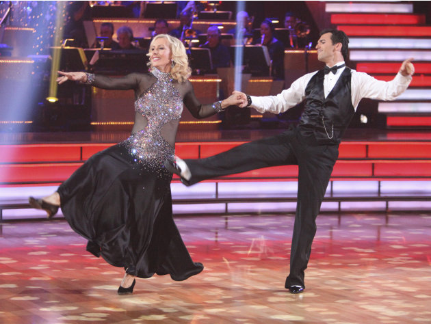 Martina Navratilova  and Tony Dovolani perform on &quot;Dancing With the Stars.&quot; 