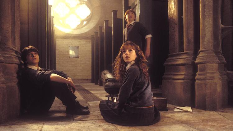 Harry Potter and the Chamber of Secrets 2002 Warner Bros. Pictures Daniel Racliffe Rupert Grint Emma Watson