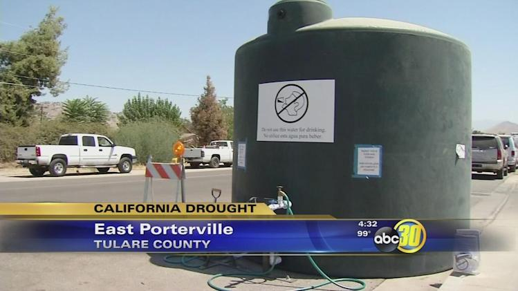 Most wells in East Porterville have run dry