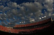 A general view of Jordan-Hare Stadium in Auburn, Alabama, in 2011. Two former US college football players were among three people shot dead at a pool party near Auburn University, a renowned powerhouse in the sport, Alabama police said Sunday