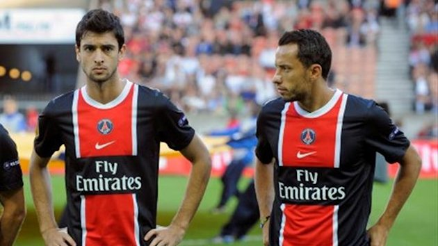 FOOTBALL 2011 Paris SG PSG Javier Pastore Nene
