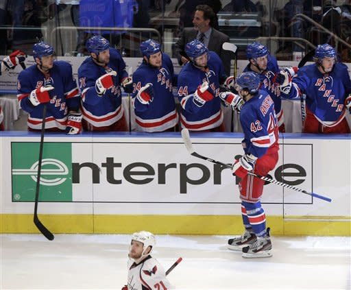 Kreider lifts Rangers to 3-1 win over Capitals