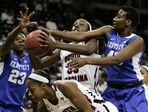No. 18 South Carolina women upset No. 5 Kentucky