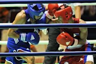 Mark Anthony Barriga (R) of Philippines fights with Hitarihun Agust of Indonesia (L) in the men&#39;s lightfly (46-49kg) boxing quarterfinal in 2011. Barriga is the Philippines&#39; main hope for gold at the London Games, sports officials said Saturday, with the light-flyweight aiming to be the country&#39;s first Olympic champion