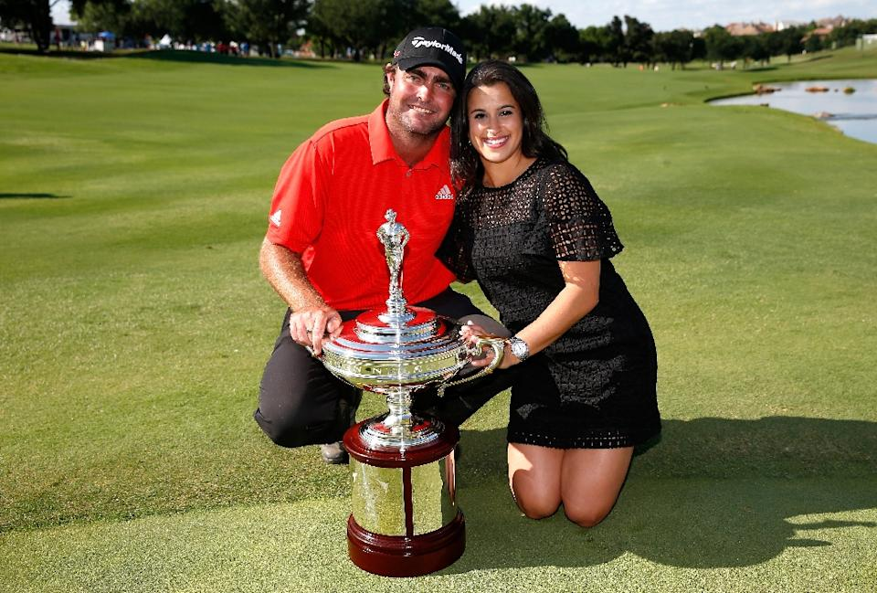 Steven and Amanda Bowditch with trophy