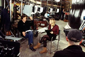 Colin Firth and Renee Zellweger behind-the-scenes of Universal Pictures' Bridget Jones: The Edge of Reason
