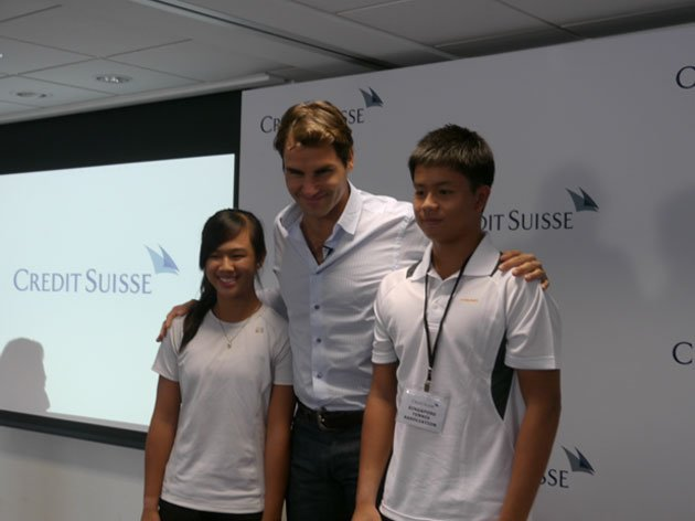 Roger Federer has inspired many young sports enthusiasts. (Yahoo! photo)