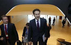Eurogroup chairman Dijsselbloem arrives at an euro zone finance ministers meeting in Luxembourg