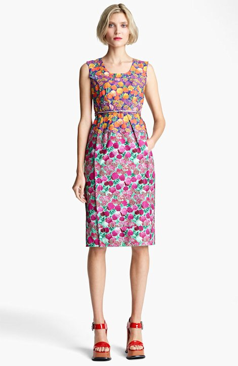 Marc Jacobs Bi-Color Floral Dress