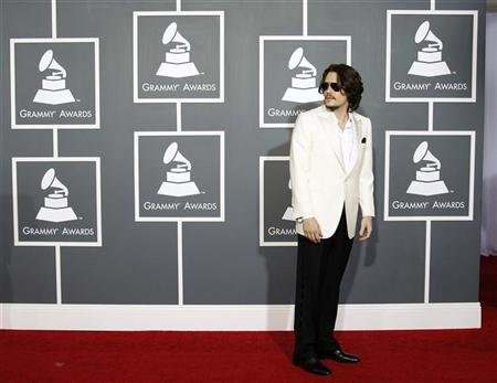 Singer John Mayer arrives at the 53rd annual Grammy Awards in Los Angeles