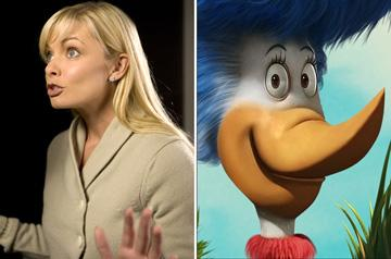 Jaime Pressly is the voice of Mrs. Quilligan in 20th Century Fox's Dr. Seuss' Horton Hears a Who