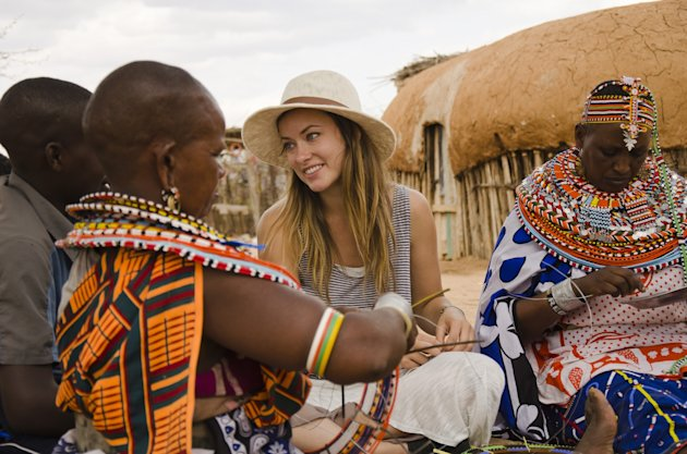 This undated image provided by PBS shows actress Olivia Wilde in Kenya. Wilde, America Ferrara, and Meg Ryan are among the actresses who brought their star power to the PBS documentary Half the Sky, which details efforts to help exploited women worldwide. It airs Monday and Tuesday, Oct. 1-2. (AP Photo/PBS, Jessica Chermayeff)