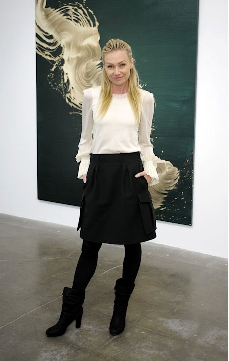 Portia de Rossi attends Michael Kohn Gallery's 25th Anniversary Show at Michael Kohn Gallery on November 19, 2010 in Los Angeles, California.