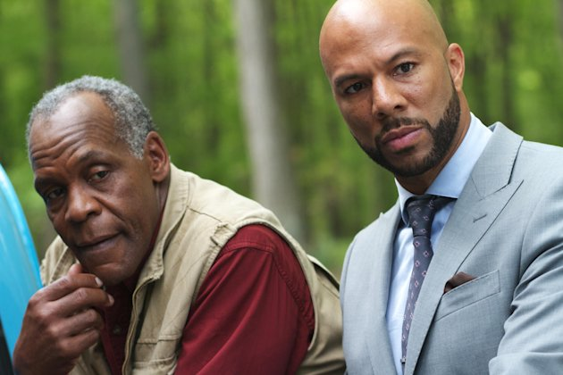 This film image released by Indomina shows Danny Glover, left, and Common in a scene from &quot;Luv.&quot; (AP Photo/Indomina, Bill Gray)